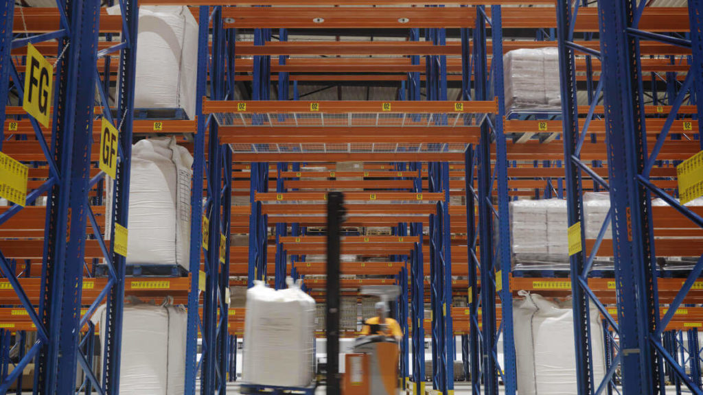 warehouse with operator